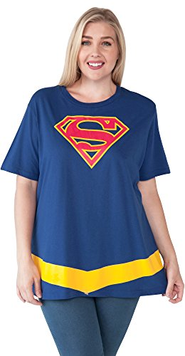 DC Comics Plus Size T-Shirt Wonder Woman Logo Belt Costume Print