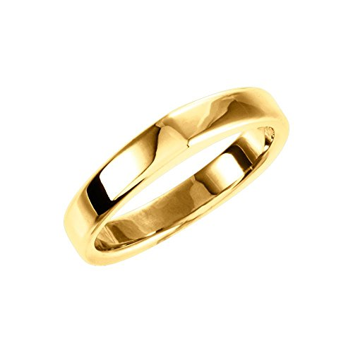 Bonyak Jewelry 14k Yellow Gold Matching Band for Square Shank Solitaire Mounting - Size 7 14k Yellow Gold Solitaire Mounting