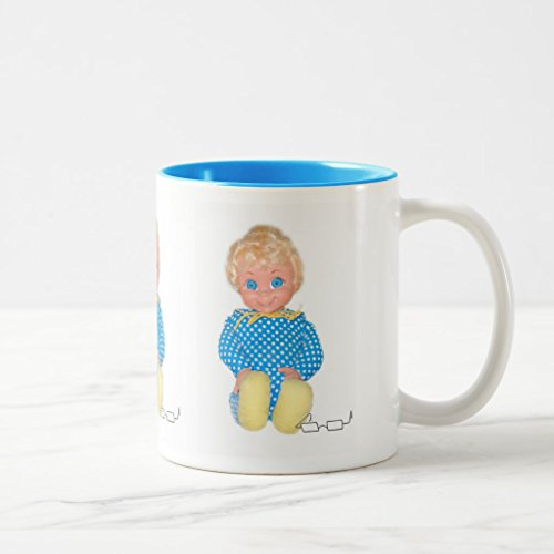 Zazzle Mrs Beasley Two-toned Mug, Light Blue Two-Tone Mug 11 oz