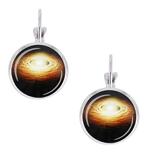 Darkey Wang Woman Fashion Novelty Magical Star Round Glass Earrings(5#) (Star Trek Shirt Colors Meaning)