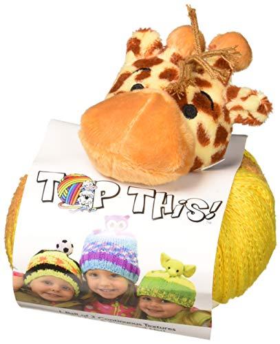 Giraffe Head Peg - DMC Top This! Giraffe Yarn Kit