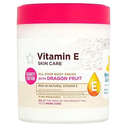 Superdrug Vitamin E Skin Care All Over Body Cream With Dragonfruit For Dry Skin 475 ml.