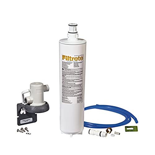 filtrete advanced under sink quick change water filtration system easy to install reduces 05 microns sediment and chlorine taste odor includes 6 month - Install Kitchen Faucet