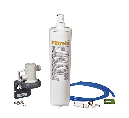 Filtrete Advanced Under Sink Quick Change Water Filtration System, Easy to Install, Reduces 0.5 Microns Sediment and Chlorine Taste & Odor, Includes 6 Month Filter (3US-PS01).  Manufactured by 3M. (Best Under Sink Water Filtration System Reviews)