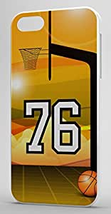 Basketball Sports Fan Player Number 7 White Plastic Decorative iphone 5s Case