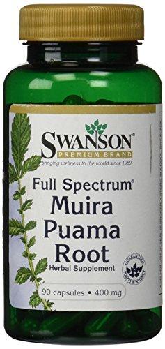 Plein-spectre Muira Puama Root 400 mg 90 Caps