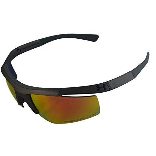 Under Armour Grip Cap - Under Armour UA Core Satin Gray Frame Orange Mirror Lenses Men's Sport Sunglasses