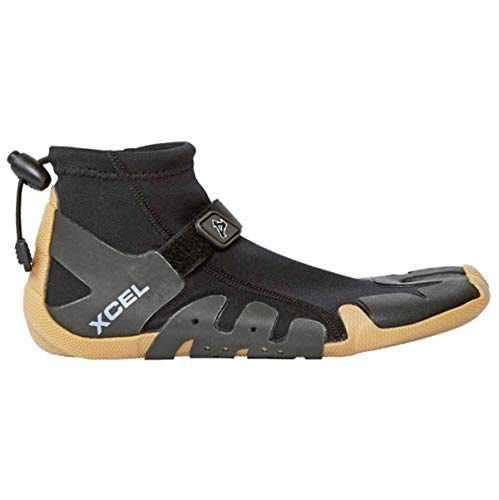 (Xcel Infiniti Split Toe Reef Boots, Black/Gum, Size 8/1mm)
