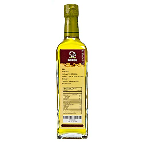 Soeos Prickly Ash Oil, Sichuan Pepper Oil, Sichuan Peppercorn Oil, Peppercorn Oil, 330ml or 238ml Randomly Sent.