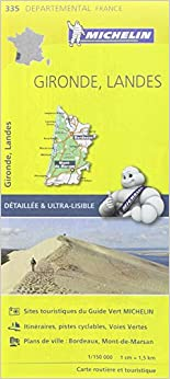Carte Gironde, Landes Michelin