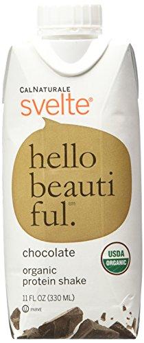 CalNaturale Svelte Organic Protein Shake, Chocolate, 11 O...