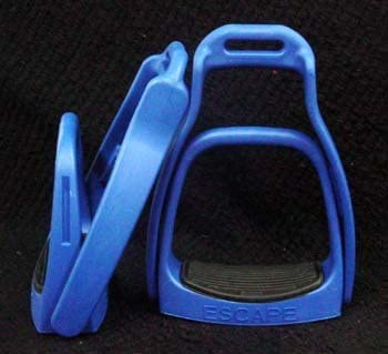 """Child's Fillis Style English Safety Breakaway stirrups 4"""" Tread with Extra Bands"""