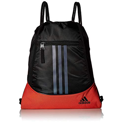adidas Alliance II Sackpack-Mystery Ink Blue Jersey/Black/Clear Orange, One Size