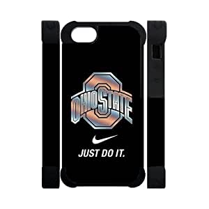 Forever Collectibles NCAA Ohio State Buckeyes Nike IPhone 5 5S Dual Hard Cover Case-Just Do It