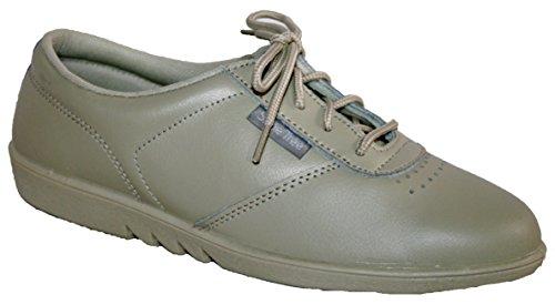 Zapatos de cordones para señora, piel suave de excelente calidad, se pueden lavar en la lavadora, 4 colores Beige