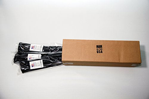 USA Strong Cable Ties. 24'' UV Black Nylon Zip Ties Wholesale Prices. Extra Heavy Duty 175 LB Tensile Strength | 10 Packs of 50 | 24'' Bulk 500 Case | Made in the USA by USA Strong Products