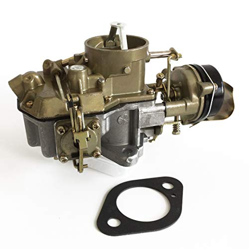HENKYO Autolite 1100 1 Barrel Carburetor Fits Ford 1963 to 1969 Mustang Falcon Comet Straight six Cylinder 170 & 200 CID Engines hot air Choke Works with Automatic and Manual transmissions