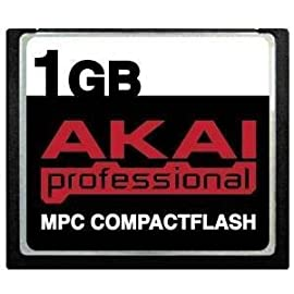Akai MPC CompactFlash CF Memory Card for MPC500, MPC1000, MPC2500, MPC4000 17 Lifetime warranty Protective jewel case Tested for sector integrity and chip functionality