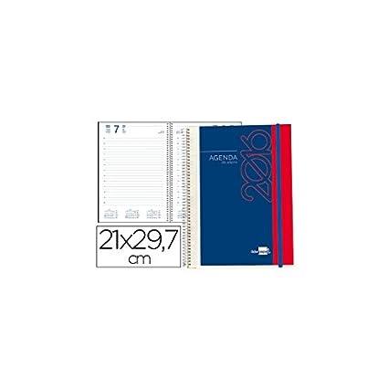 Liderpapel 77257 - Agenda De Espiral Liderpapel Tinos Din-A4 2016 Dia Pagina Portada Polipropileno Personalizable