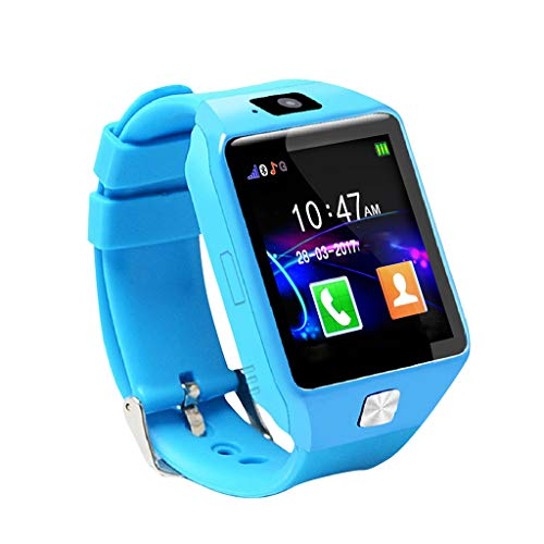 Aobiny Smart Watch for Kids,Positioning Kids Smart Watch,U9 MTK6261D Processor Intelligent Support for Apple and Android Card Bluetooth Watch for 3-12 Year Old Children Girls Boys (Blue)