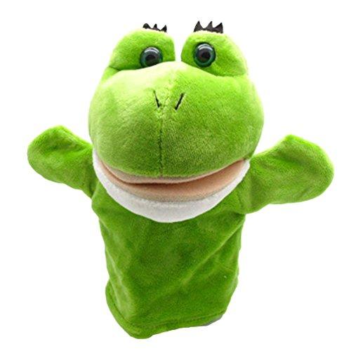HEART SPEAKER Cartoon Animals Monkey Dog Lion Stuffed Plush Hand Puppet Xmas Kid Children Gift (2#) ()