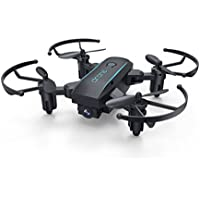 ALLCACA Mini Wifi RC Drone Foldable 2.4G 4CH 6-Axis Quadcopter Portable Pocket Drone Toy with Altitude Hold Mode and Headless Mode, Black