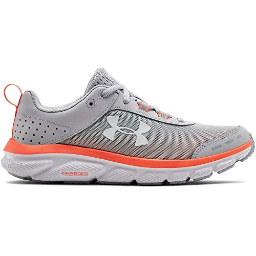 Under Armour Women's Charged Assert 8 Running Shoe, Halo Gray (101)/White, 6 (Best Running Shoes Underpronation 2019)