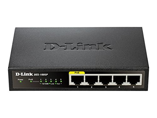 D-Link 5 Port 10/100 Unmanaged Desktop Switch with one PoE P