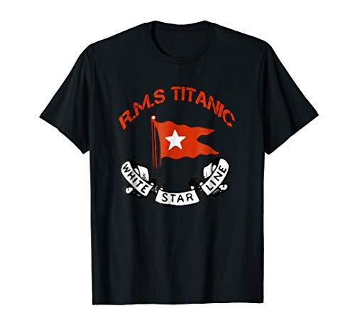 (Titanic T-Shirt White Star Line Ship Atlantic Ocean Voyage)