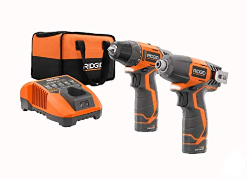 (Ridgid 12-volt Hyper Lithium-ion Drill/driver and Impact Driver Combo Kit)