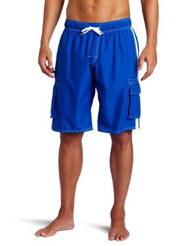 Kanu Surf Men's Barracuda Swim Trunks (Regular & Extended Sizes), Royal, XX-Large