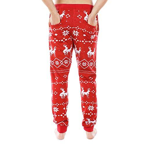 Para Hombres Rojo Estampado Navidad Pantalones Xmiral 5EwWvpqxSn