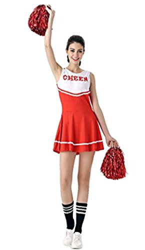 (SWISH Women's Adult Cheerleader Costume Fancy Dress Sport Cheerleading Ourfit)