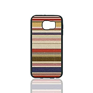 Colorful Stripes Custom Hard Plastic back Phones Case for Samsung Galaxy S6 - Galaxy S6 Case Cover