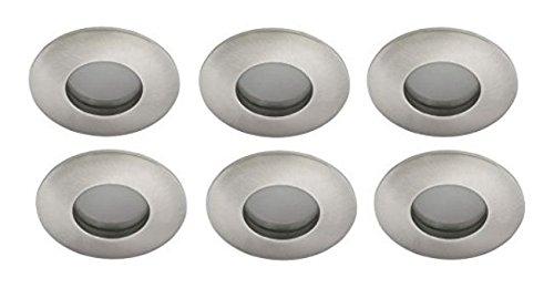 Led Badezimmer Einbauleuchten Set Kaltweiss 6000k 6x3W IP44 84mm Gebürstet  Bad Einbaustrahler Aluminium Druckguss Feuchtraum SMD