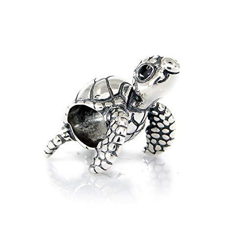 Cute Turtle Sterling Silver Charm Bead S925, Cute Tortoise Sea Animal Silver Charm Bead Pendant, Silver Ocean Summer Charm, Pandora compatible Charm Jewellery