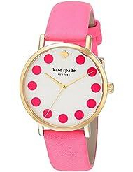 kate spade new york Womens 1YRU0770 Metro Dot Pink Watch