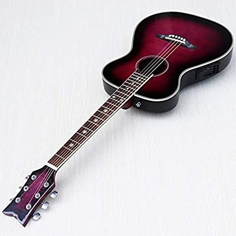 Guitarra acústica eléctrica con parte superior de arce, color ...