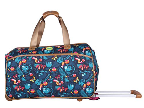 Lily Bloom Luggage Designer Pattern Suitcase Wheeled Duffel...