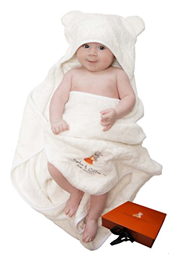 Premium Baby Hooded Towel   Ultra Soft 100% Organic Bamboo Hooded Towel (600 GSM)   Large Size 40