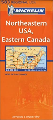 Michelin Map USA Northeastern, Eastern Canada 583 (Maps/Regional ...