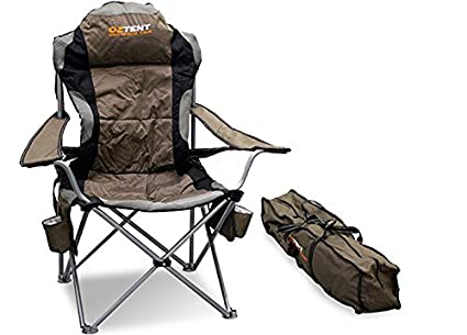 OzTent King Goanna Camping Outdoor Chair With Lumbar Support