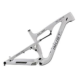 IMUST Carbon Fat Bike Full Suspension Frame Glossy 26er 12x197mm 16/18/20 inch