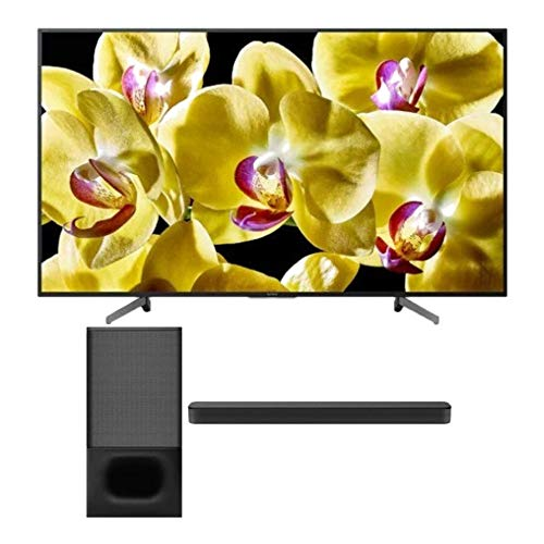 Sony XBR-X800G 55 Inch TV: 4K Ultra HD Smart LED TV with HDR and Alexa Compatibility - 2019 Model Bundle HTS350 2.1-Channel Soundbar with Powerful Wireless Bluetooth Subwoofer (2 Items)
