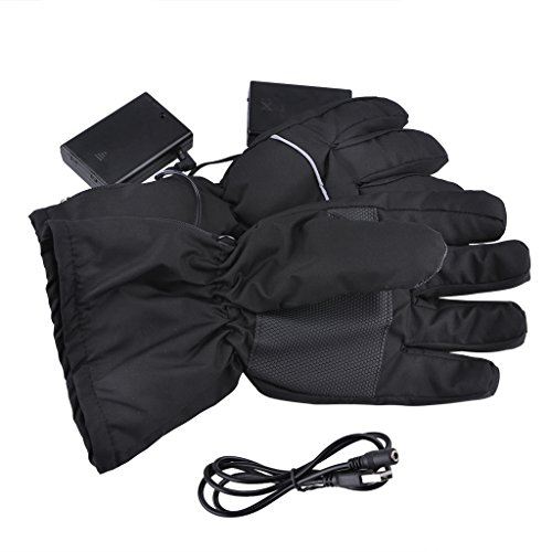 Lifemall GL Battery Heated Gloves for Men Women Motorcycle Skiing Cycling Hand Warmer (Black) (Heated Cycle Gloves compare prices)
