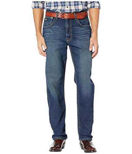 Cinch Men's Black Label Loose Fit Jean, Performance Medium Stonewash, 32 x36