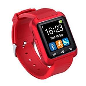 KJH21 U80 Reloj Inteligente Bluetooth Deportes & Salud Antipérdida Muñequera Reloj Teléfono Mate Smartphones iOS Android Apple, Rojo, Tamaño Libre