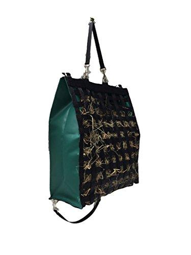 "The Original NibbleNet 9"" deep w/ 1.5"" Slow Feed Hay Bag by Thin Air Canvas, Inc. = Green"