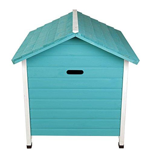 Petsfit casa de perro de interior con puerta de hierro, refugio de madera para perros, color verde, 74 cm x 70 cm x 76 cm: Amazon.es: Productos para ...