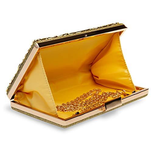 la floreale da scatola di donna stile per Tote Caspar con Bag dorata decorazione Ta528 fY8qn7Iw